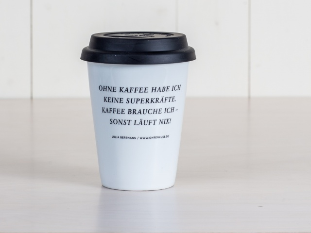 KAFFEEBECHER TO GO SUPERKRÄFTE